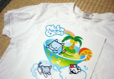 ねこび~んTシャツデザイン