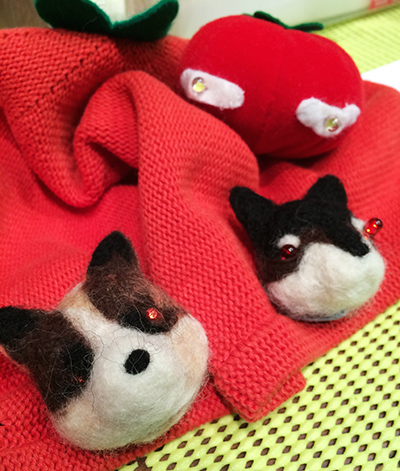 テクノ手芸:羊毛フェルトで犬を作る