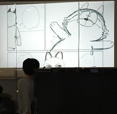 大八耐 中間発表:アニメーション制作チーム