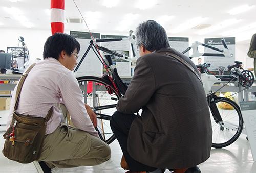 つくると! 展示コーナー 自作自転車