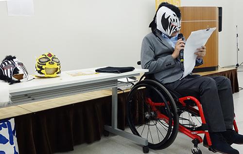 つくると!プレゼンテーション:障害者プロレスFORCE所属 白虎 氏